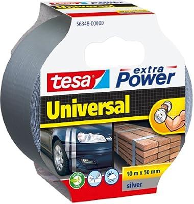 tesa Reparaturband extra Power, silber, 10m x 50mm