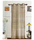 Elegance Brown Sheer Solid Polyester 1 W...