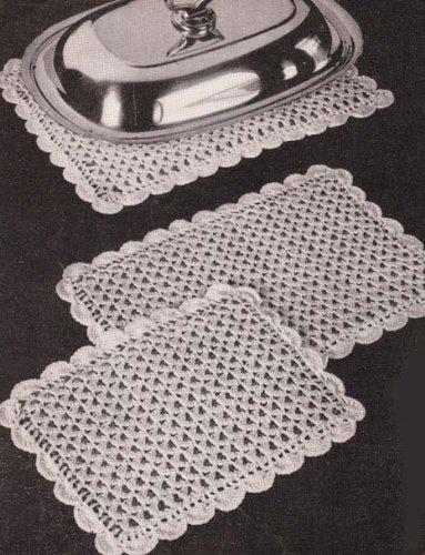 Pretty Shell Stitch Hot Plate Mats Crochet Pattern (English Edition)