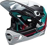 Bell Super DH Mips, Casco Unisex, White/Emerald/Hibiscus,...