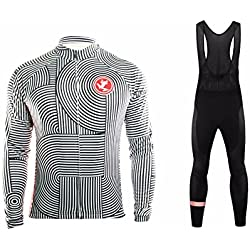 Uglyfrog 2018-2019 Ropa MTB Hombre Invierno Mantener Caliente Manga Larga Maillot Ciclismo Hombre Bodies +Long Bib Pant with Gel Pad Winter Style