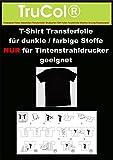 20 Blatt DIN A4 T-Shirt Transferpapier für Dunkle Stoffe.Eine spezielle Transferfolie zum Bedrucken von schwarzen, farbigen, dunklen und hellen T-Shirts, Basecaps,Sweat-Shirts, Baumwoll-Taschen,Bettwäsche,Fahnen,....Sie erhalten 20 Blatt DIN A4 Transferfolie incl. einer Bedienungs- und Waschanleitunganleitung.Für JEDEN Tintenstrahldrucker und höchste Auflösungen bestens geeignet !Sie können diese Folie aber auch mit Kugelschreiber,Edding,Wasserfarbe beschriften und dann Aufbügeln !!!