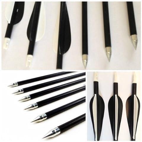 10 Hunting Arrow Hunter Nocks Fletched Arrows Fiberglass Target Practice Arrow 31.5
