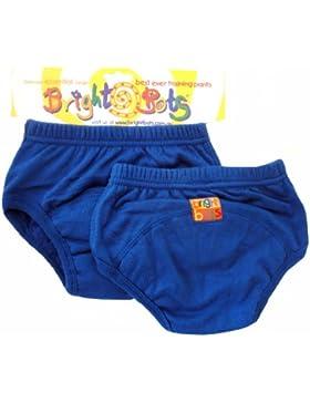 Bright Bots Unterhose für Töpfchentraining, Gr. XL / 30-36 Monate, Blau, 2 Stück