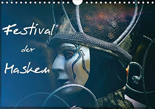 Festival der Masken (Wandkalender 2020 DIN A4 quer): Kunstvolle venezianische Masken (Monatskalender, 14 Seiten ) (CALVENDO ()