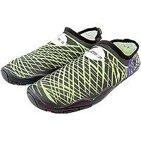 s.lemon Hombres Mujeres Zapatos de Agua Zapatos de Aqua Zapatos de Buceo de Secado rápido para Nadar Yoga para Caminar(Green, 44 EU)