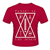 Plastic Head Men's Panic! at The Disco PATD Banded Collar Short Sleeve T-Shirt