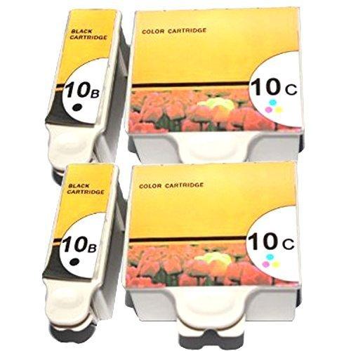 Tian Tintenpatronen Kodak 10XL Kokda 10BK Kodak 10C kompatibel für Kodak ESP 3, ESP 5, ESP 7, ESP 9, ESP 3200, ESP 3250, ESP 5000, ESP 5100, ESP 5200, ESP 5210, ESP 5250, ESP 5300, ESP 5500, ESP 7200, ESP 7250, ESP 9200, ESP 9250, ESP Office 6100, ESP 6150, Hero 6.1, Hero 7.1, Hero 9.1 (2 set) (10c Farbe Tinte Patrone)
