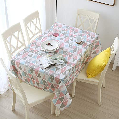 Tischdecke Moderne Minimalistische Tischdecke Baumwolle Leinen Leinen Tischdecke Restaurant Couchtisch Frischen Stoff Farbe Rautenform 100 * 150Cm