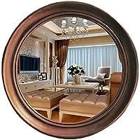Comparador de precios Xiuxiandianju Espejo retrovisor de Pared Circular Creativo de Estilo Europeo Simple Espejo Espejo Espejo Espejo Espejo Espejo Espejo Espejo Espejo retrovisor, Bronze, 58cm - precios baratos