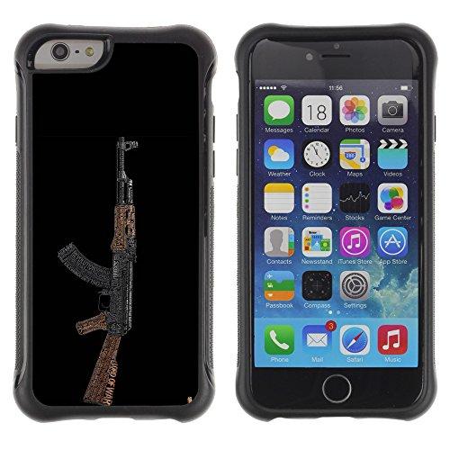 Graphic4You Schwarz Desert Eagle Pistole Feuerwaffe Design Shockproof Anti-Rutsch Weichen Hülle Case Tasche Schutzhülle für Apple iPhone 6 / 6S Design #4