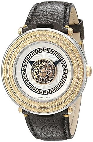 Versace Men's VQL010015 V-Metal Icon Analog Display Swiss Quartz Brown Watch