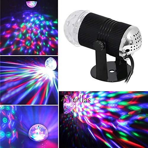 LED Musik Bühnenbeleuchtung 110-240V DMX Disco Club DJ Glühbirnen Projektor Crystal Magic Ball DJ Effektbeleuchtung (Plug Type : US Plug)