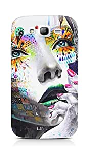 AMEZ designer printed 3d premium high quality back case cover for Samsung Galaxy Grand Neo GT (abstract girl painting )