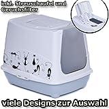 Katzentoilette Haube Silhouette - Sonderpreis Auslaufmodell inkl. Streuschaufel und Geruchsfilter