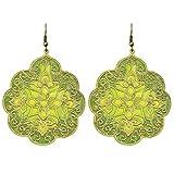 Dhrohar Diva Green Alloy Ethnic Dangle E...