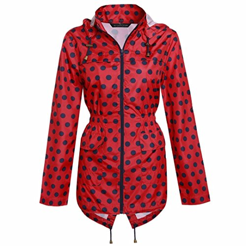 MyShoeStore® Ladies Women Rain Mac Raincoat Showerproof Fishtail Cagoule Kagool Kagoul Kag Festival Parka Jacket Hooded Lightweight Shower Proof Rain Coat Plus Big Sizes 8-24