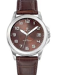 Certus 610729 - Reloj de pulsera hombre, piel, color marrón