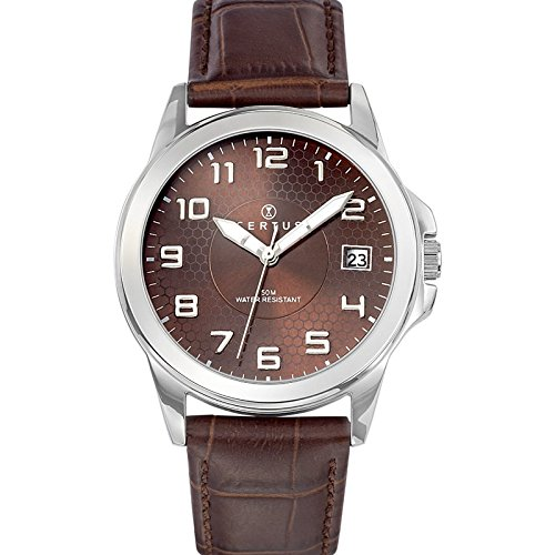 Certus Men's Quartz Watch Analogue Display and Leather Strap 610729