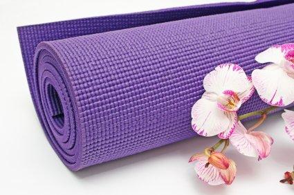 Narains Packaging 4mm Purple Yoga Mats with Bag