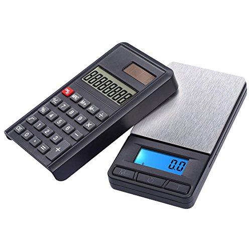PerGrate 1000g / 0,1g Elektronische Waage Hohe Präzision Schmuck Digital Pocket Scales mit Rechner