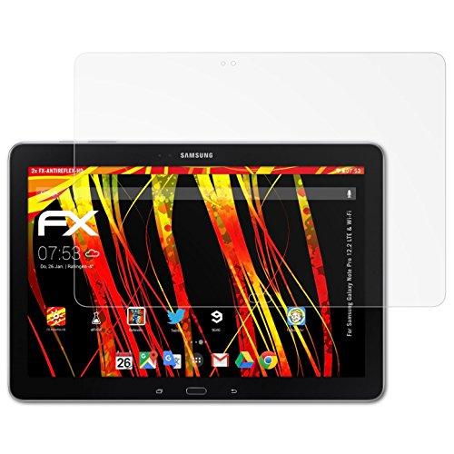 atFolix Schutzfolie kompatibel mit Samsung Galaxy Note Pro 12.2 LTE & Wi-Fi Displayschutzfolie, HD-Entspiegelung FX Folie (2X) (Tablet Samsung P900)