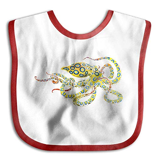Blue Ring Octopus Funny Baby Bibs Burp Infant Drool Toddler Bibs