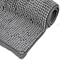 WohnDirect Badematte – Badezimmerteppich zum Set kombinierbar – rutschfest – Badvorleger – Waschbar – Duschvorleger – Badteppich – 70x120cm – Grau