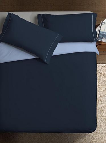 Ipersan Parure Copripiumino Double-Color blu/azzurro matrimoniale