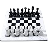 Black and White Marble Chess Game Handmade Marble Chess Set___Mármol blanco y negro Juego de ajedrez hecho a mano de mármol juego de ajedrez