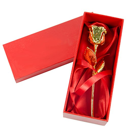 Regalo personalizable para mujer: rosa de oro personalizada con el texto que tú quieras. (Rosa de oro)