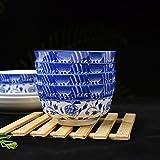 Fulitanghuang Porcelana Azul y Blanca, vajilla de cerámica de Alto Grado, Cuenco de 4.5 Pulgadas, hogar para Comer, tazón pequeño/tazón de arroz; (Color : B)