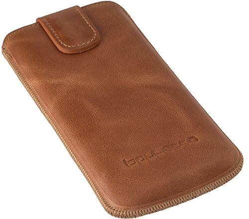 Bouletta Multi-Case Apple iPhone 6 Plus / 6S Plus Leder Handyhülle | Handytasche | Schutzhülle | Tasche | Ledertasche | Lederhülle | Hülle | Sleeve | Cover | Etui mit Kartenfach (Dunkel Braun) Cognac