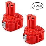 Powayup 2 × 12V 3.0Ah Ni-MH Batería de Repuesto para Makita 1220 1222 1233 PA12 1200 1234 1235 1235B 1235F 1235A 192696-2 192698-8 192598-2 192681-5 1