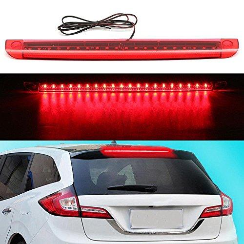 WINOMO rojo Luz de freno adicional con 24 LEDs 12 V tercera luz accesorio para autom/óvil
