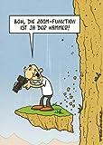Postkarte, Miguel Fernandez: Boh, die Zoom-Funktion ist ja der Hammer! (Hobby-Fotograf, voll konzentriert)