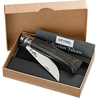 Opinel Messer Me. Nr.8 Ebenholz Länge geöffnet: 19.5 cm Holzkiste, schwarz, M