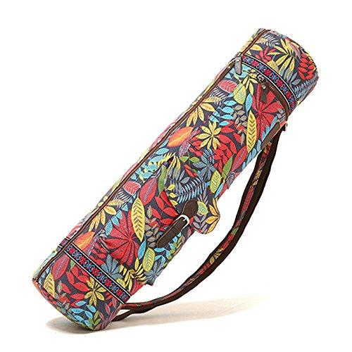 zantec Yogamatte Taschen und Trägern Multifunktions-Fest Taschen mit Canvas Yoga-Matte Tragetasche Aufbewahrung einfach Zugang Reißverschluss, rot