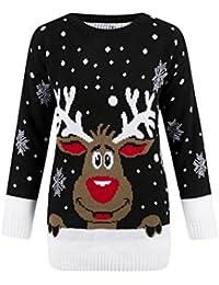 Get The Trend - Damen Frauen Herren Weihnachten Neuheiten Vintage 70s  Pullover Retro… 5c4658d42b