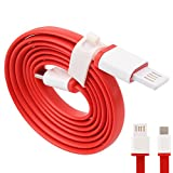 #7: One Plus 2 / OnePlus Two /One Plus Two C USB Type C Cable, USB Type-C DASH Cable, Fast Adaptive c cable C Type Cable Charging Cable, Data Cable,Usb Cable , Sync Cable High Speed Original C Type Usb Data Charging Cable DASH 1 Meter Length (Red)