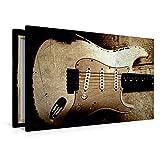 Premium Textil-Leinwand 120 cm x 80 cm quer CS 1962 HEAVY RELIC STRAT | Wandbild, Bild auf Keilrahmen, Fertigbild auf echter Leinwand, Leinwanddruck: Vintage Gitarre in Szene gesetzt (CALVENDO Kunst)