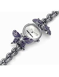 Miss Sixty WM2J6002 - Reloj analógico de cuarzo para mujer con correa de acero inoxidable, color gris