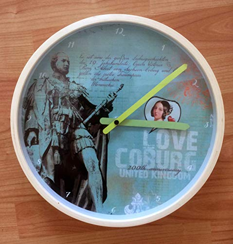 For Royal-Fans! Wanduhr Wall clock UK Queen Victoria Prince Albert 200. Anniversary