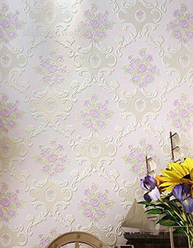 BBSLT Tessuto non continental living room bedroom TV parete di sfondo di schiuma solida giardino sfondo , 3 , 0.53m*10m - Stati Uniti Schiuma Mappa