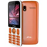 Aqua Pearl Max - 2.8 Inch Display Dual SIM Basic Keypad Mobile Phone With 3600 MAh Battery And Power Bank Feature -Orange