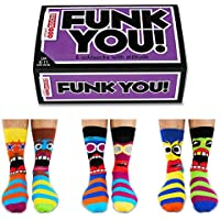 Funk You - Box of 6 Oddsocks - by United Oddsocks UK 6-11 EUR 39-46 US 7-12