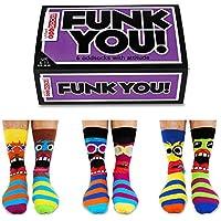 De La Marca United Oddsocks - Caja De Regalo 6 x Calcetines Desparejados Para Hombre (Funk You) EU 39-46 Multicolor