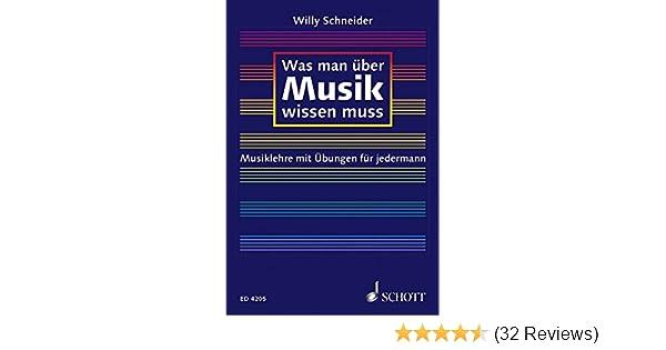 Mängelexemplar Was man über Musik wissen muß Willy Schneider