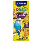 Vitakraft - Kräcker Trio-Mix (œuf et graines de graminées, abricot et figue, miel et sésame) - 80 g - Pack de 3