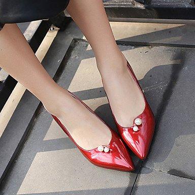 Scarpe Donna Heels Primavera Estate Autunno Inverno Comfort similpelle Ufficio & Party Carriera & serata informale tacco a spillo imitazione PearlBlack Red White
